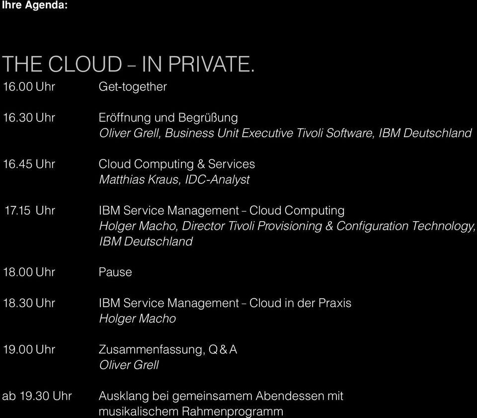 45 Uhr Cloud Computing & Services Matthias Kraus, IDC-Analyst 17.