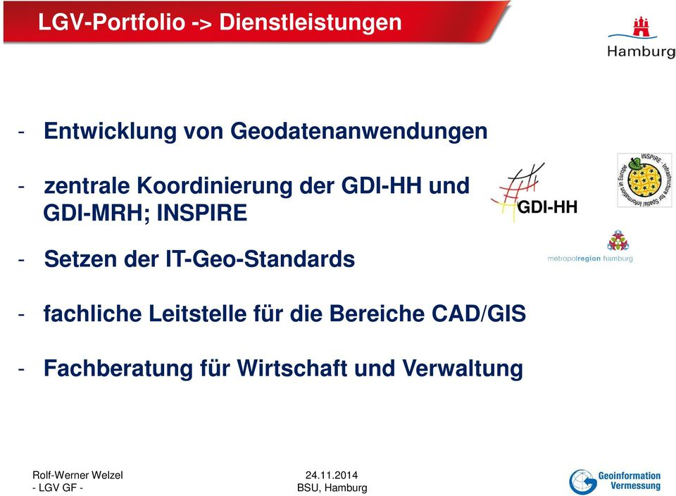 GDI-MRH; INSPIRE GDI-HH - Setzen der IT-Geo-Standards -