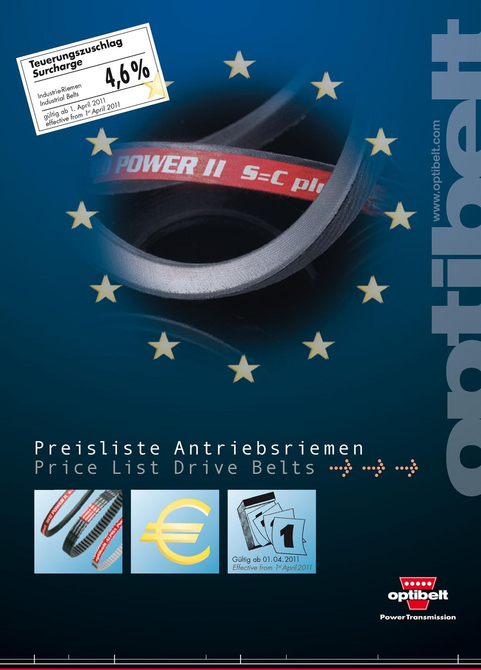April 2011 effective from 1 st April 2011 % Preisliste A