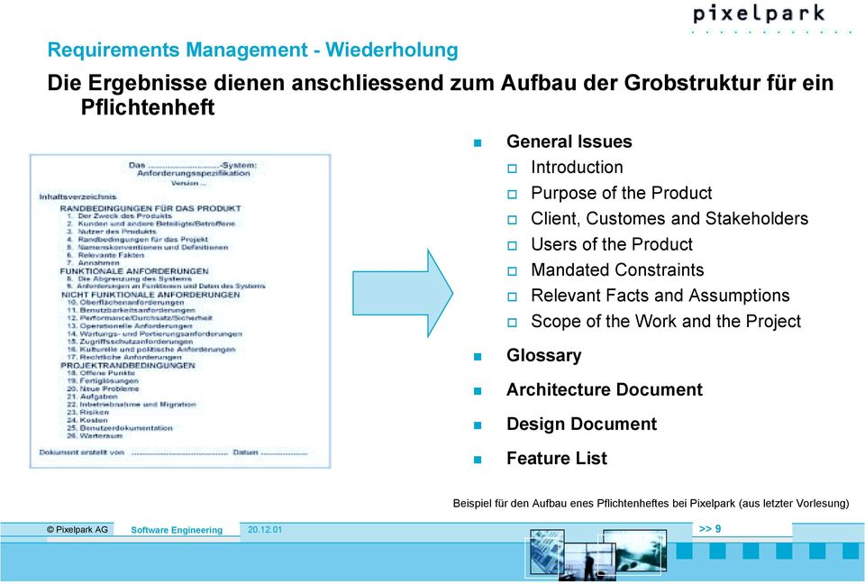 "General Issues "" Introduction "" Purpose of the Product "" Client, Customes and Stakeholders "" Users of the Product """