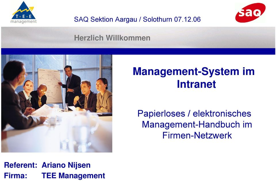 Intranet Papierloses / elektronisches