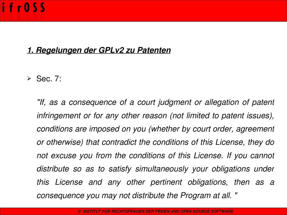 conditions are imposed on you (whether by court order, agreement or otherwise) that contradict the conditions of this License, they do not