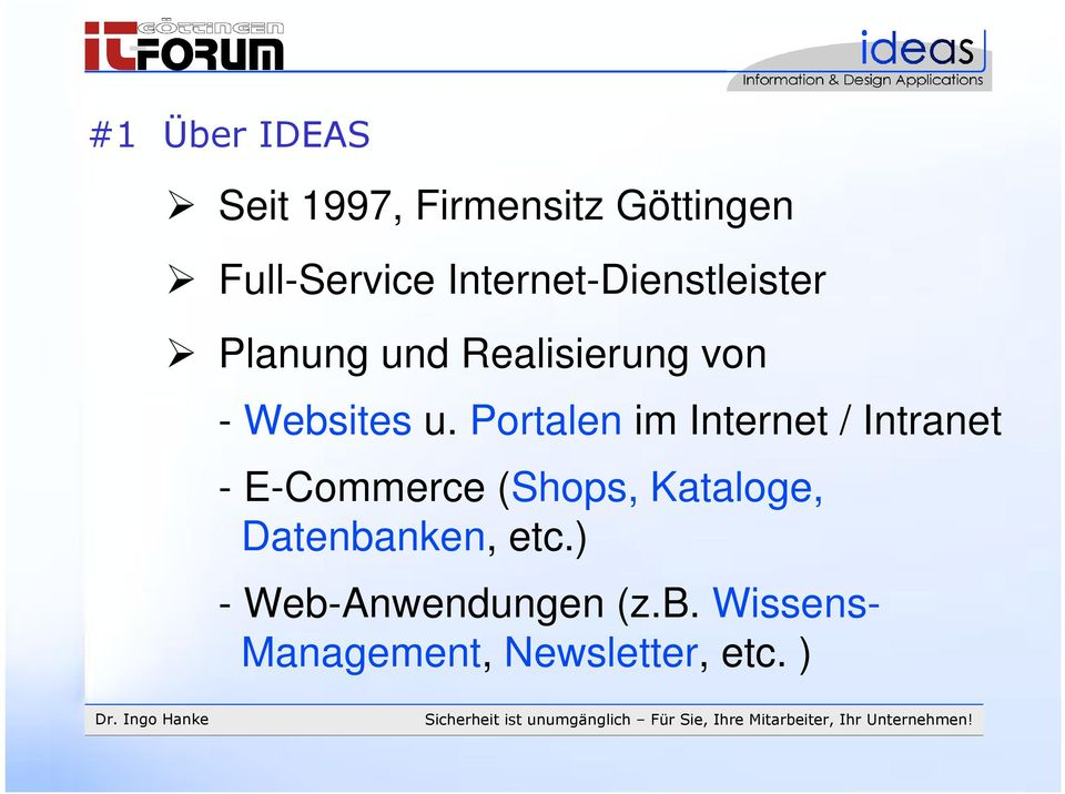 Portalen im Internet / Intranet - E-Commerce (Shops, Kataloge,