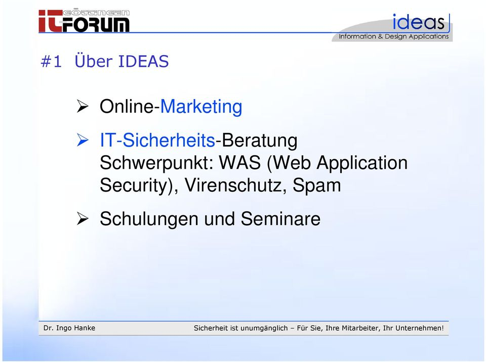 Schwerpunkt: WAS (Web Application