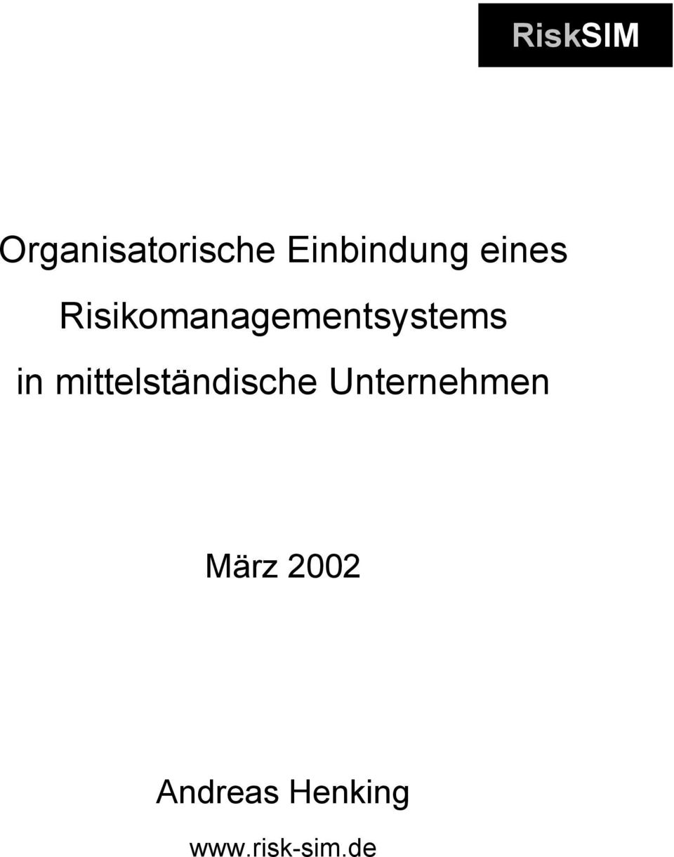 Risikomanagementsystems
