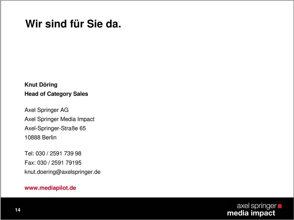 Springer Media Impact Axel-Springer-Straße 65 10888