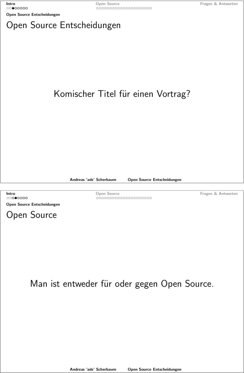Intro Open Source Open Source