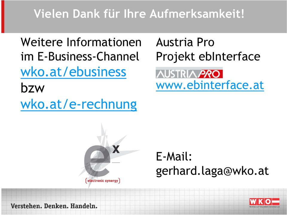 Austria Pro Projekt ebinterface im E-Business-Channel wko.