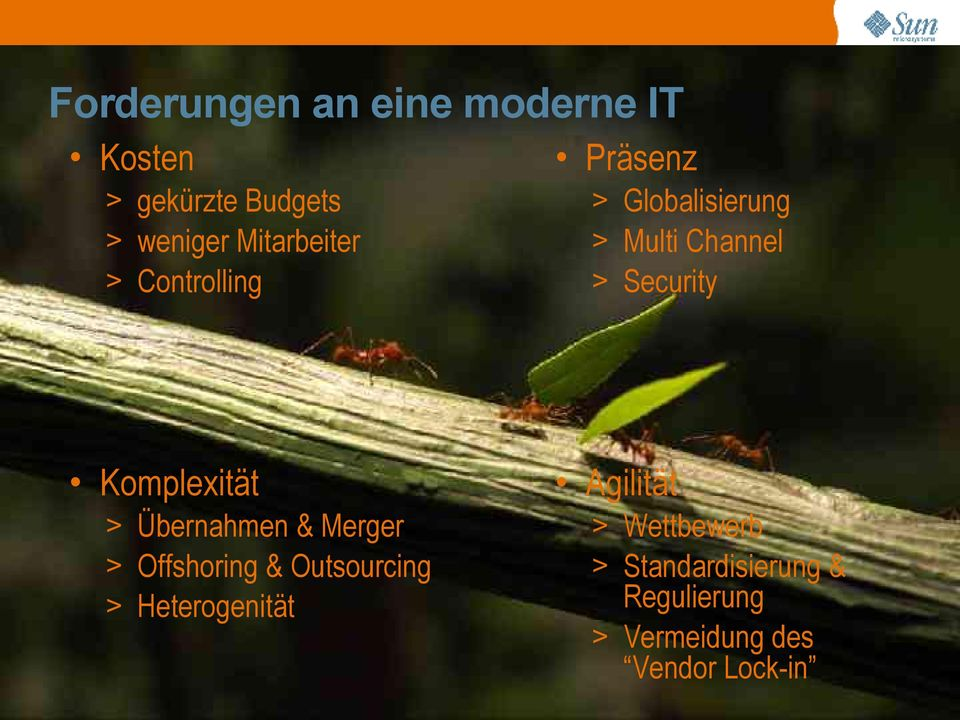 Security Komplexität > Übernahmen & Merger > Offshoring & Outsourcing >