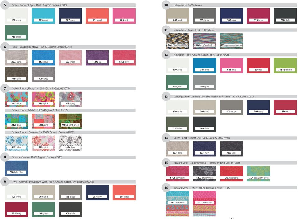 (GOTS) 203c-sand 317c-blue 633c-rose 634c-lila 635c-berry 100-white 317-blue 625-pink 636-red 718-light green 715c-olive 909c-grey 7 Voile - Print - Flower - 100% Organic Cotton (GOTS) 719-green