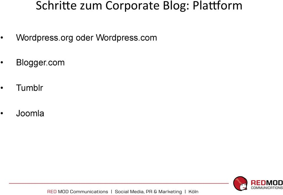 org oder Wordpress.