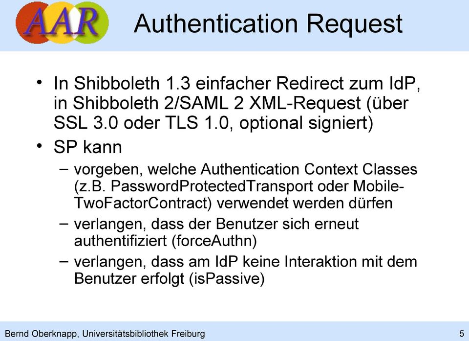 n, welche Authentication Context Classes (z.b.