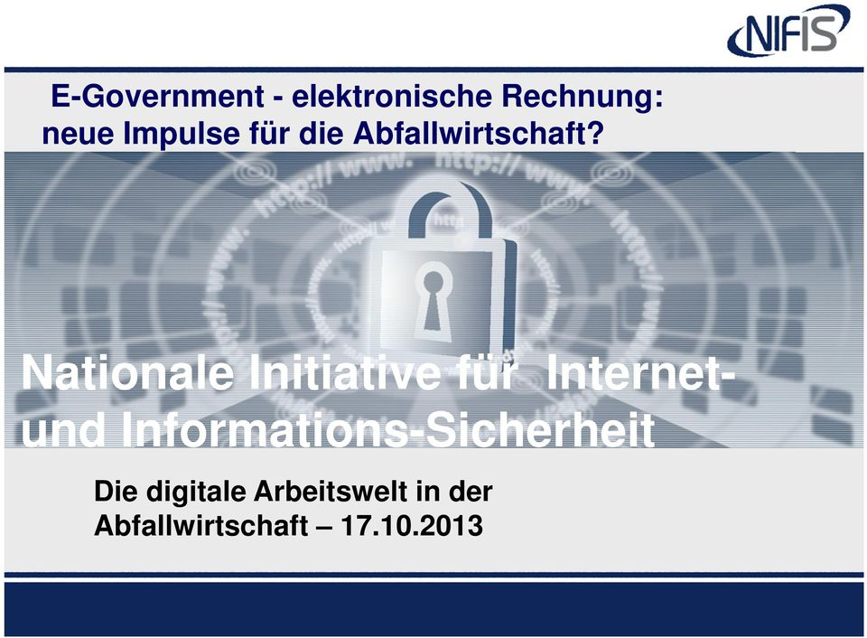 Nationale Initiative für Internetund