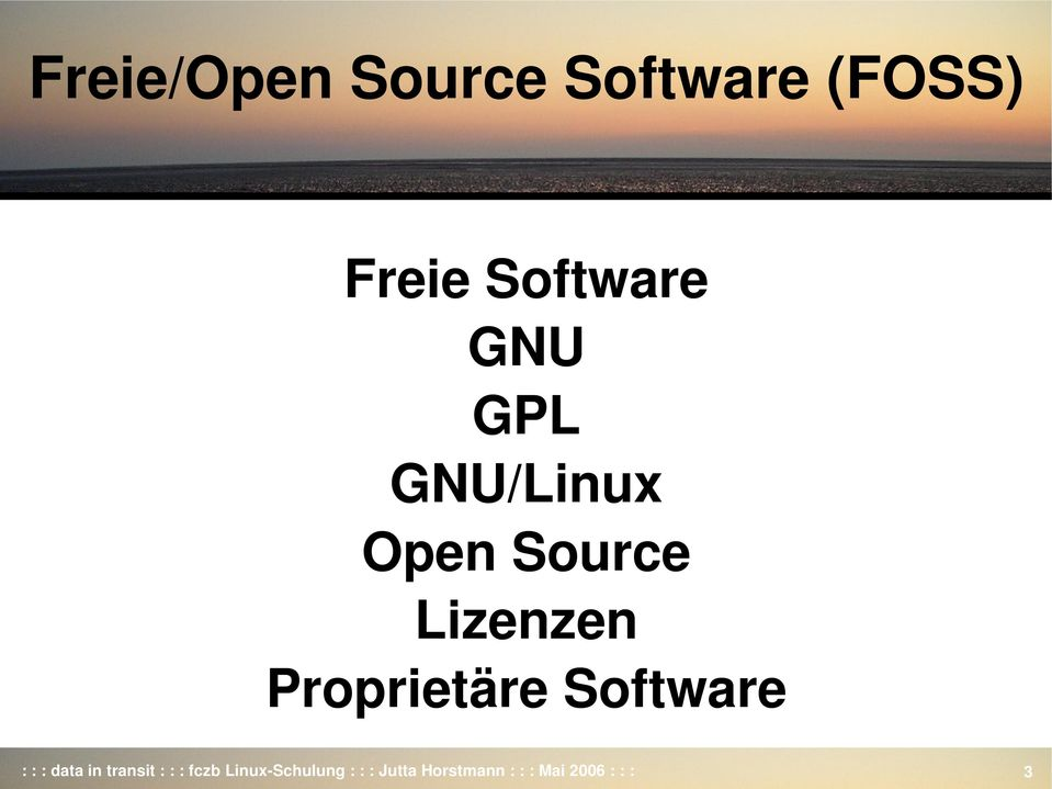 Software : : : data in transit : : : fczb Linux