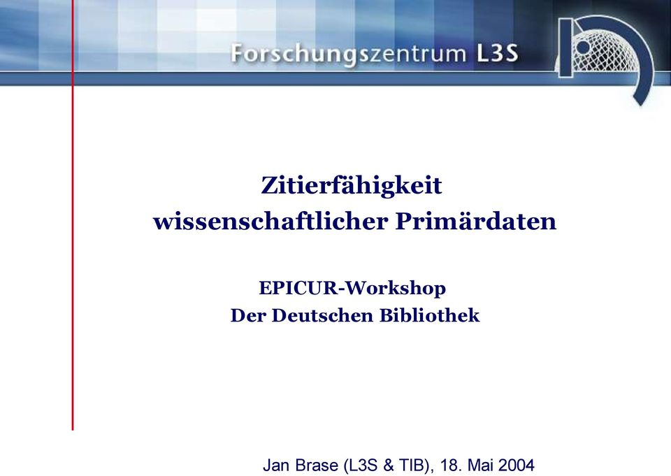 EPICUR-Workshop Der Deutschen