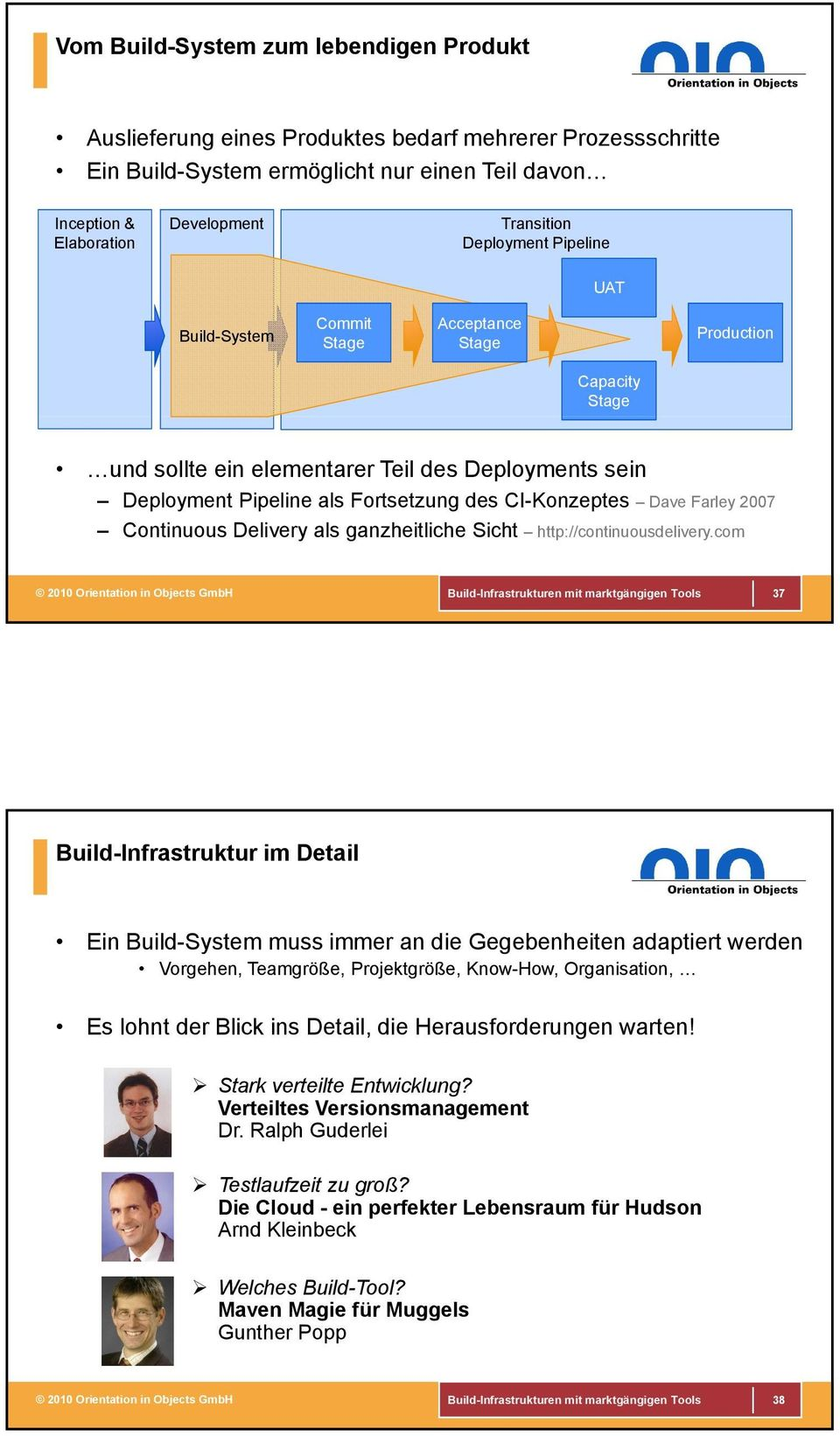 Dave Farley 2007 Continuous Delivery als ganzheitliche Sicht http://continuousdelivery.