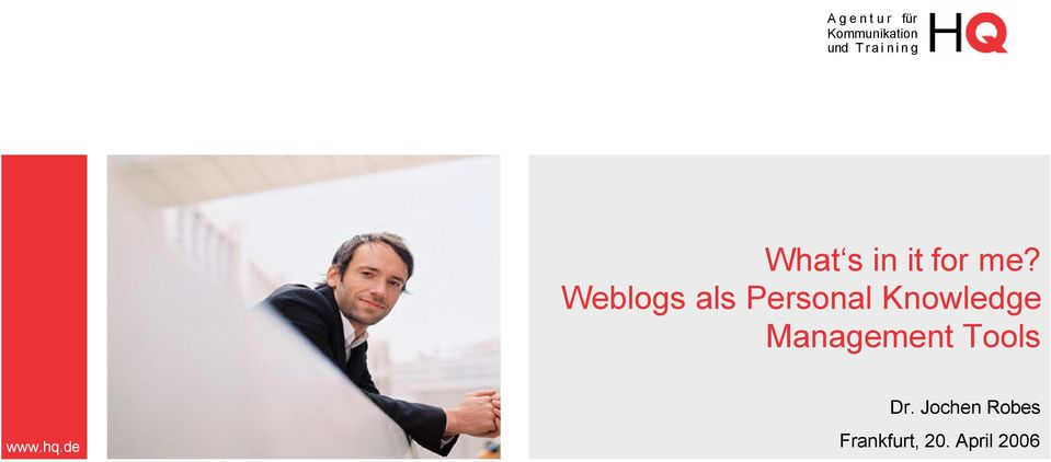 Weblogs als Personal Knowledge Management