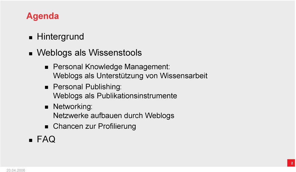 Wissensarbeit Personal Publishing: Weblogs als