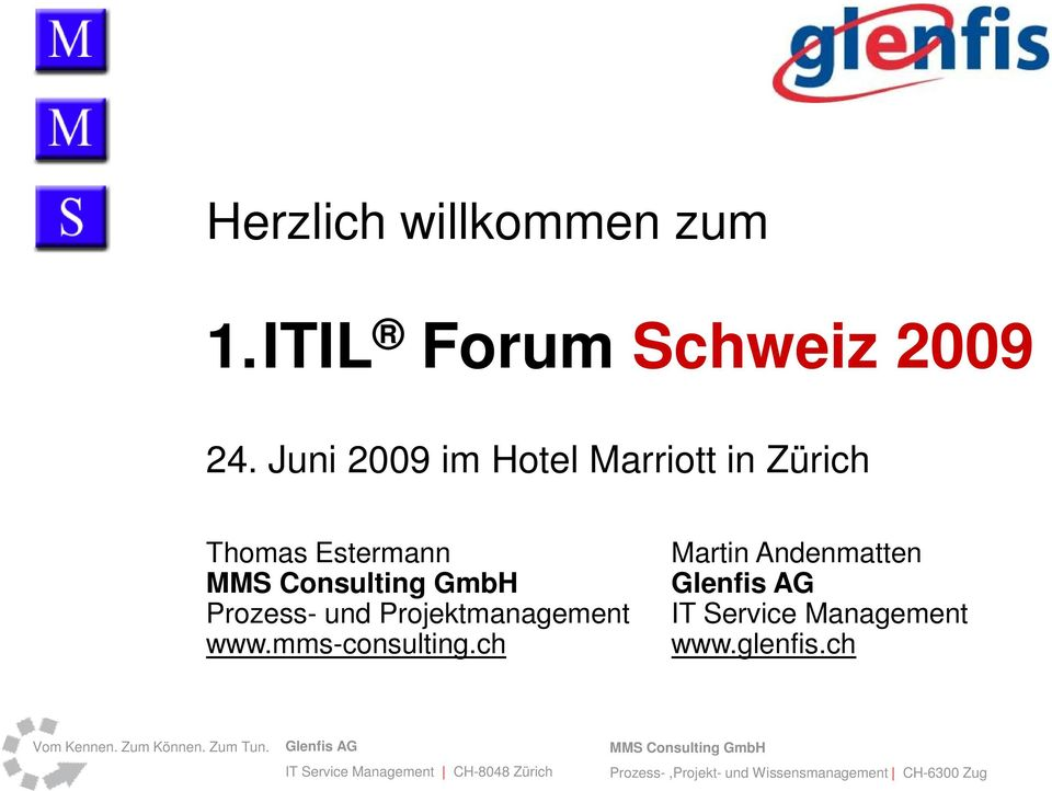 Juni 2009 im Hotel Marriott in Zürich Thomas Estermann