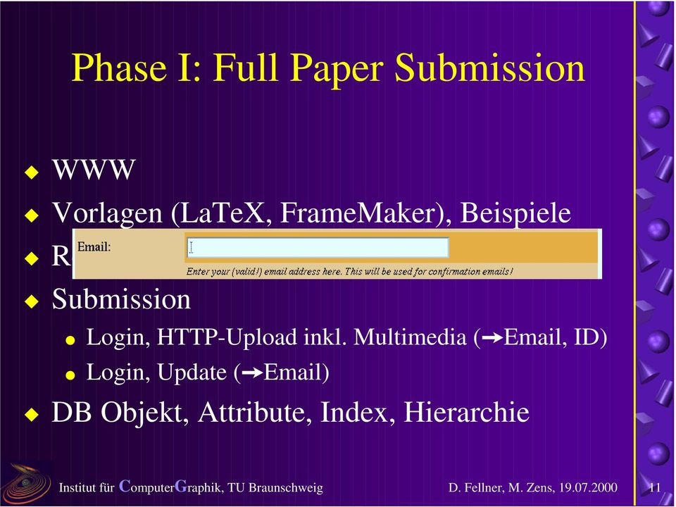 "Email-Adresse (""Email)! Submission # Login, HTTP-Upload inkl."