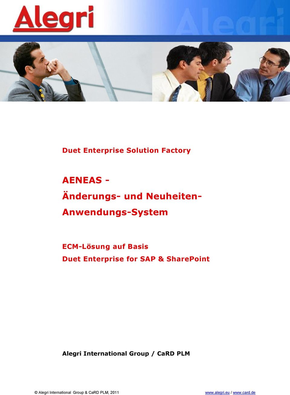 Enterprise for SAP & SharePoint Alegri International Group /