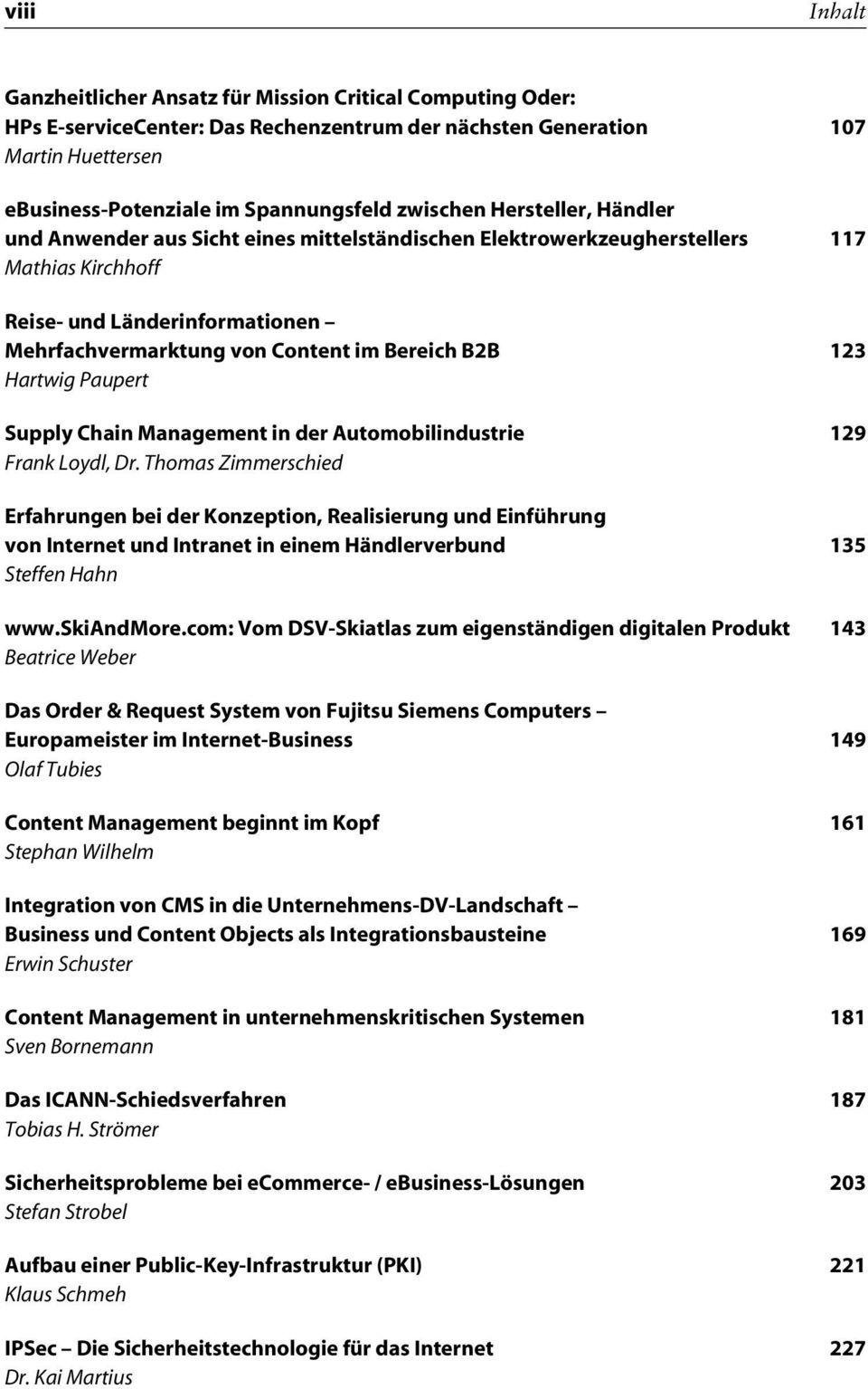 B2B 123 Hartwig Paupert Supply Chain Management in der Automobilindustrie 129 Frank Loydl, Dr.