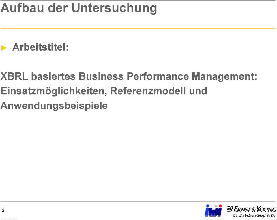 Business Performance Management: