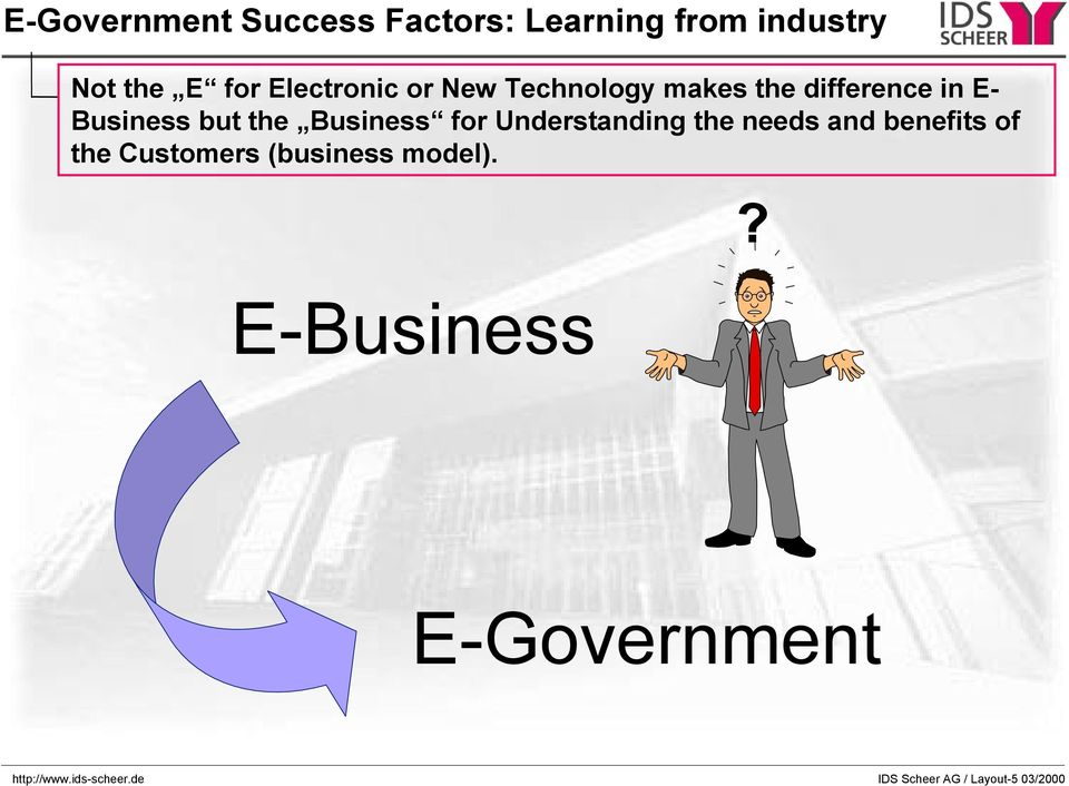 Business for Understanding the needs and benefits of the Customers (business