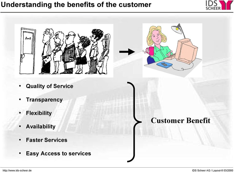 Customer Benefit Faster Services Easy Access to