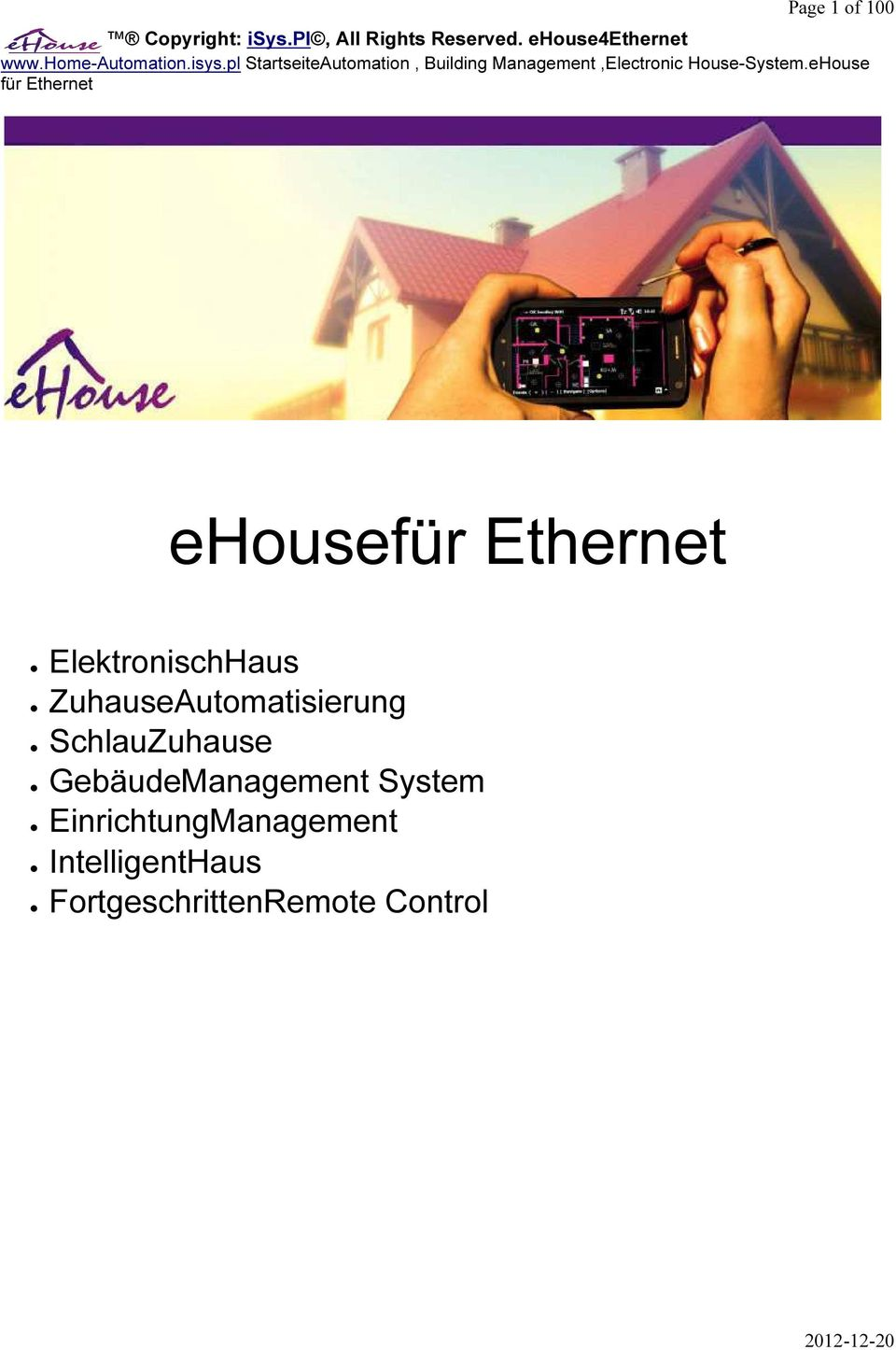 pl StartseiteAutomation, Building Management,Electronic House-System.