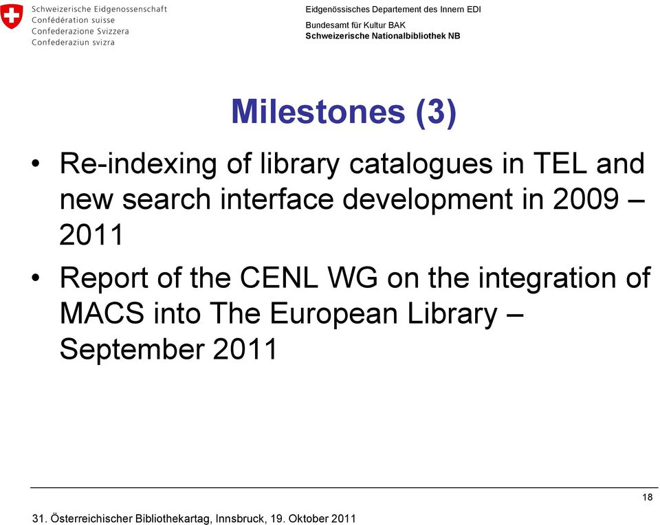 2009 2011 Report of the CENL WG on the