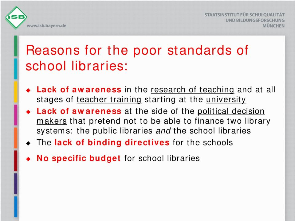 decision makers that pretend not to be able to finance two library systems: the public libraries and the