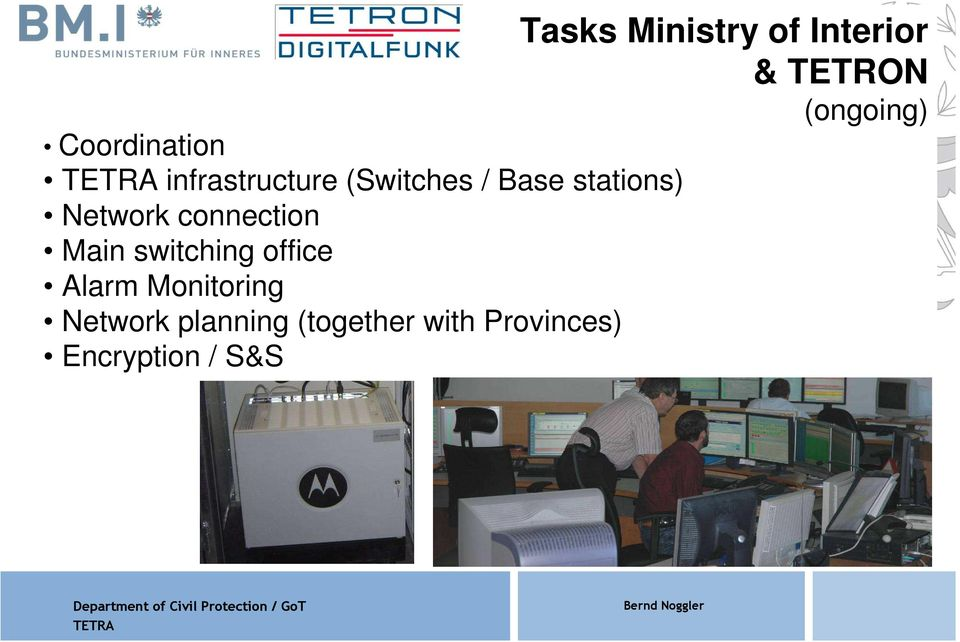 Monitoring Network planning (together with Provinces)