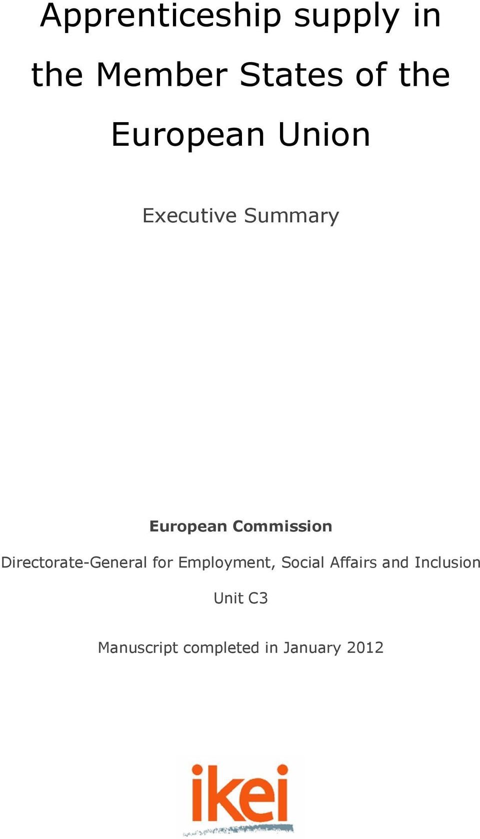 Directorate-General for Employment, Social Affairs