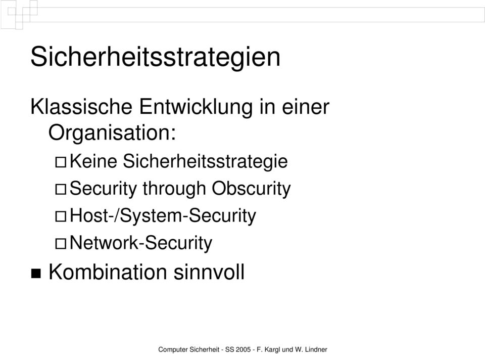 Sicherheitsstrategie Security through