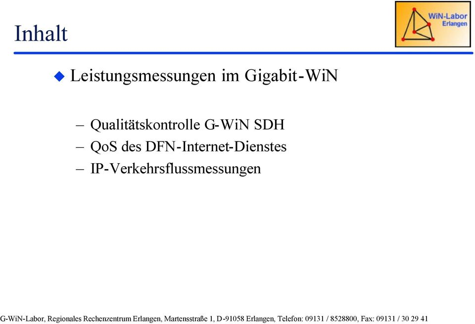 G-WiN SDH QoS des