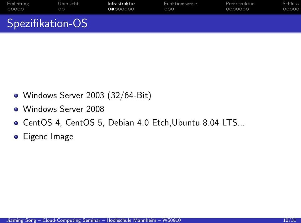 . Spezifikation-OS Windows Server 2003 (32/64-Bit)