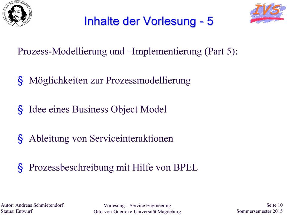 Prozessmodellierung Idee eines Business Object Model