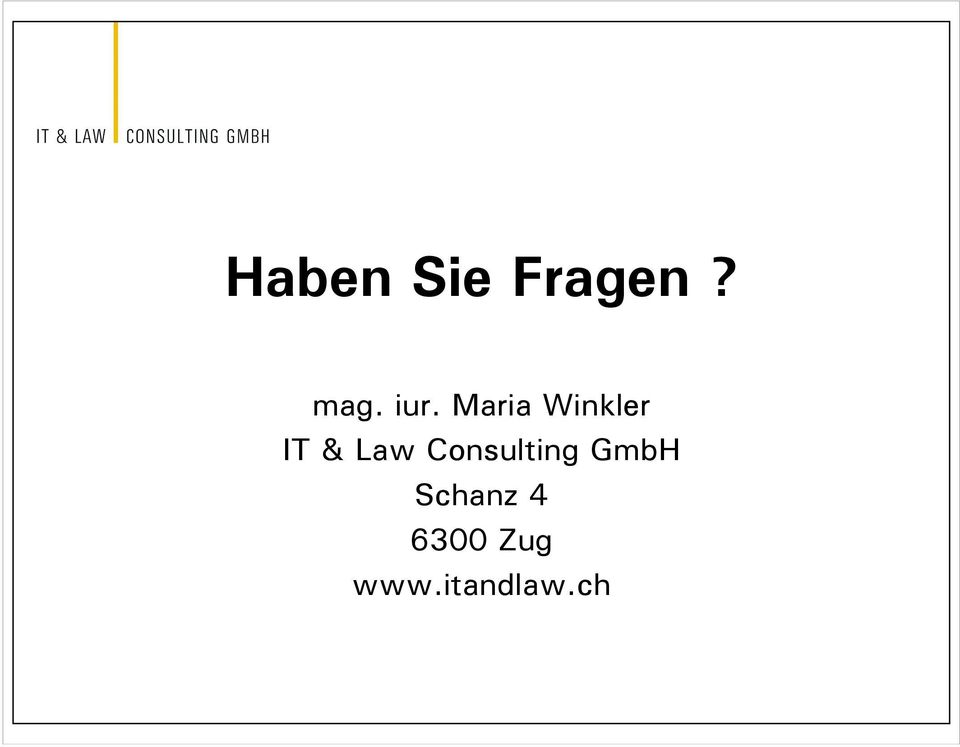 Law Consulting GmbH