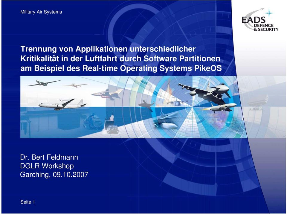 Beispiel des Real-time Operating Systems PikeOS Dr.