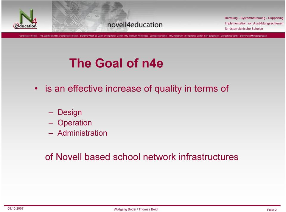 Administration of Novell based school network