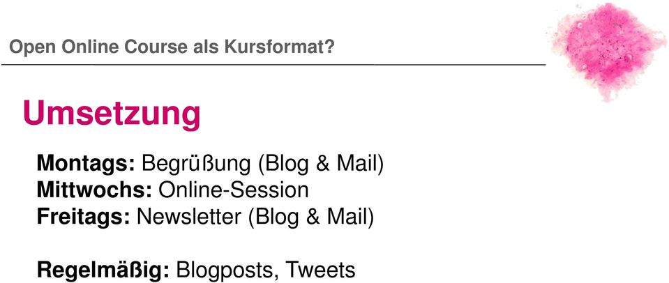 Online-Session Freitags: