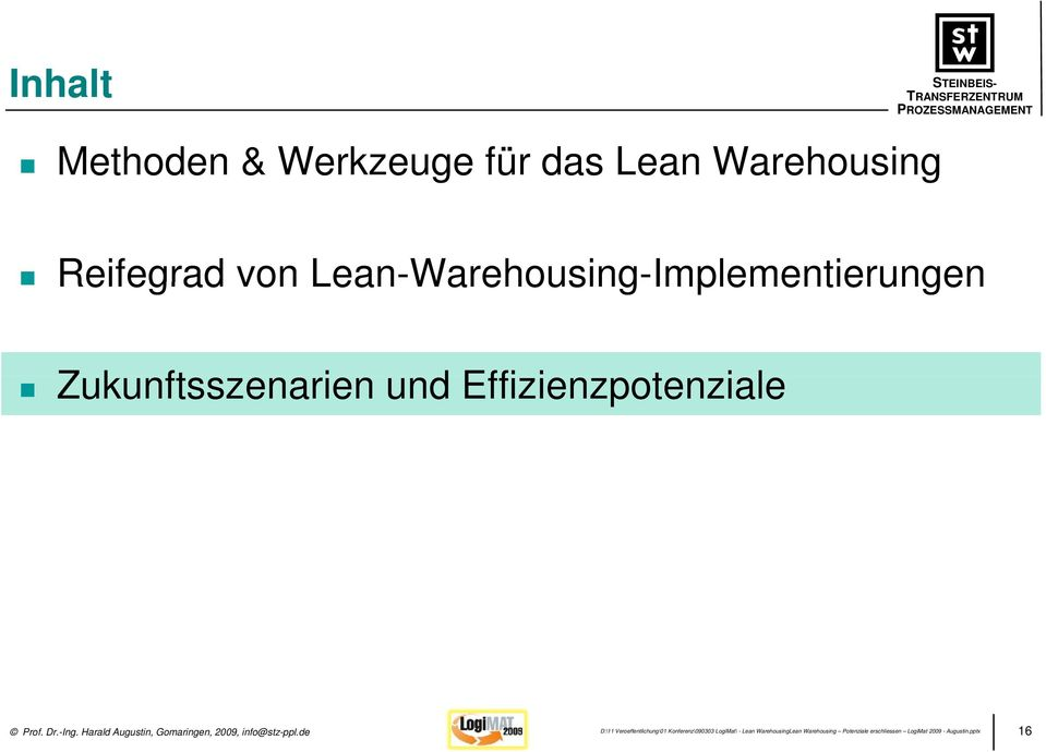 Lean-Warehousing-Implementierungen