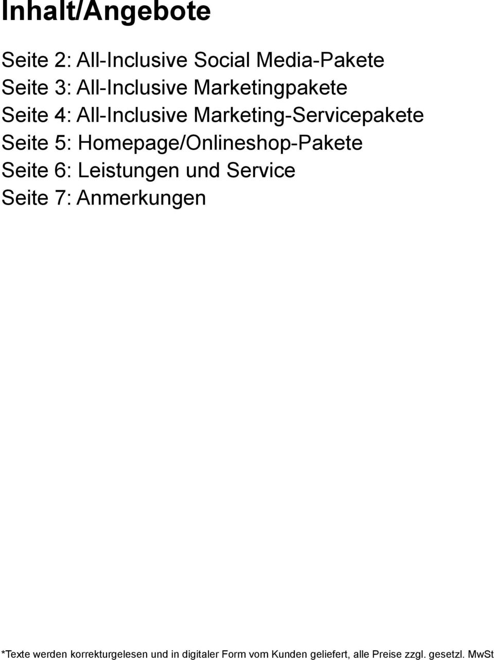 All-Inclusive Marketing-Servicepakete Seite 5: