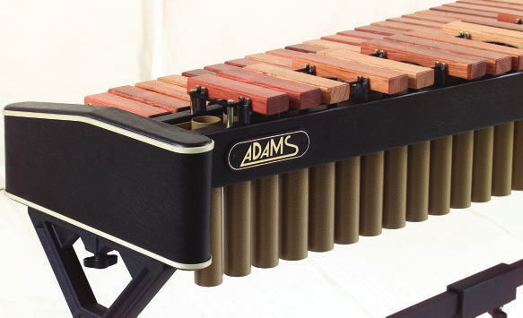 XYLOPHONE ONERT oncert Xylophones Adams oncert Xylophones offers the ultimate in both sound and quality. Its carefully selected Honduras rosewood bars are manufactured slightly wider than standard.