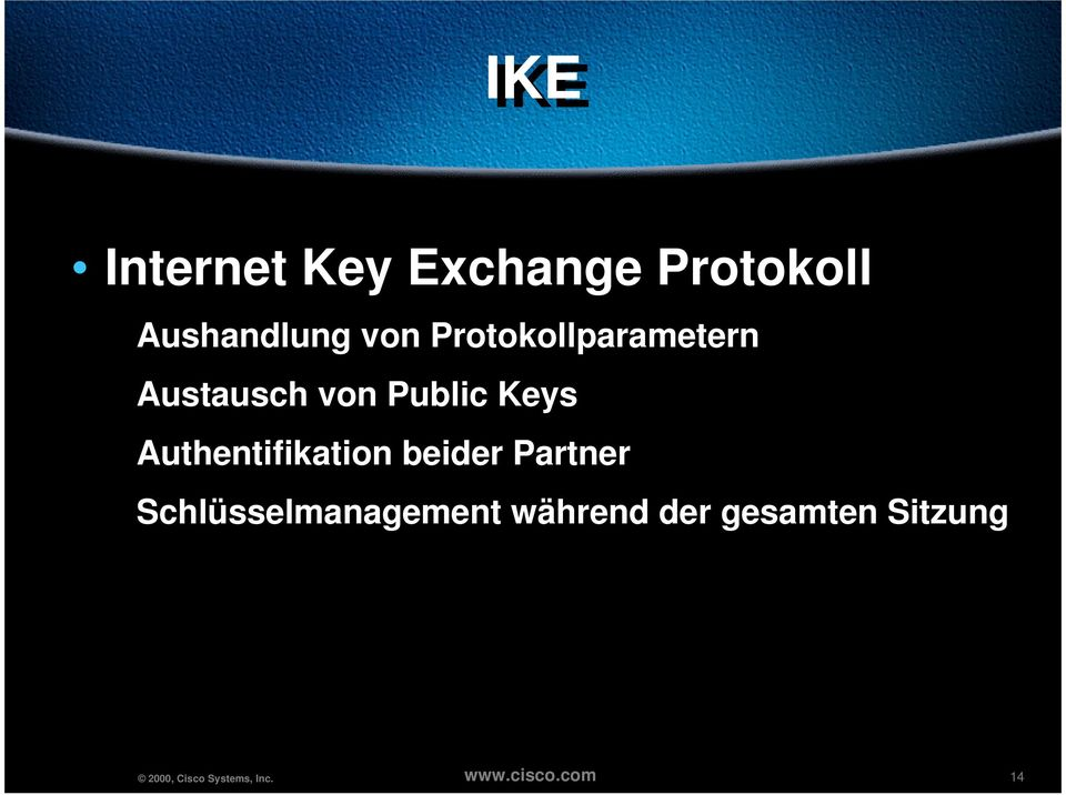 von Public Keys Authentifikation beider