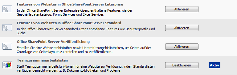 Was sind SharePoint Features? Neue Kernfunktion in WSS 3.