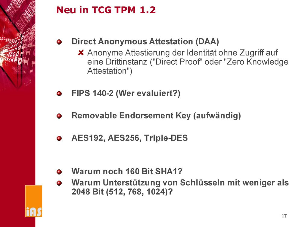 "Drittinstanz (""Direct Proof"" oder ""Zero Knowledge Attestation"") FIPS 140-2 (Wer evaluiert?"