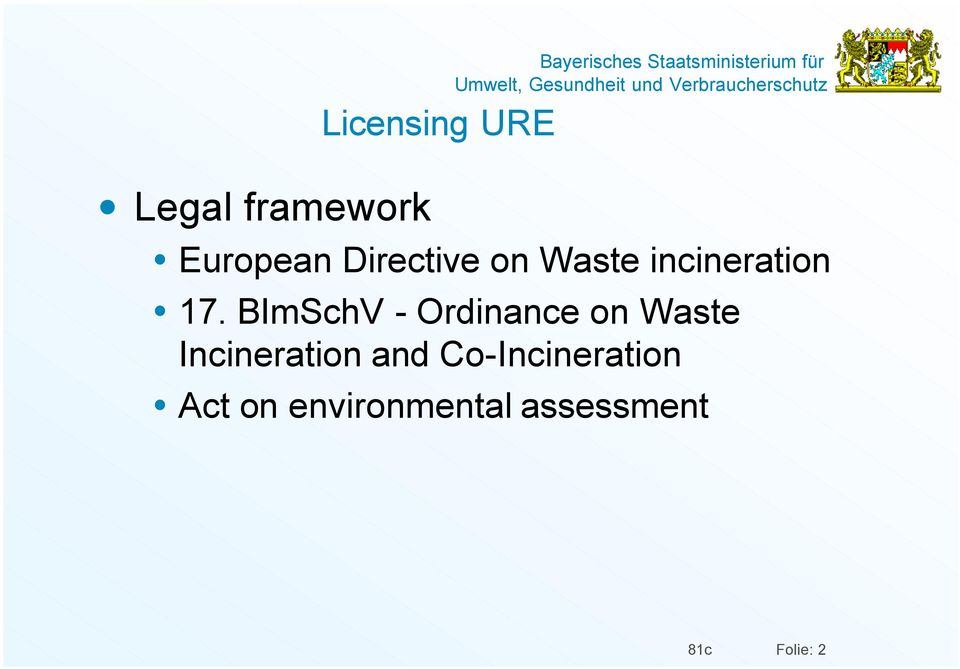 BImSchV - Ordinance on Waste Incineration and