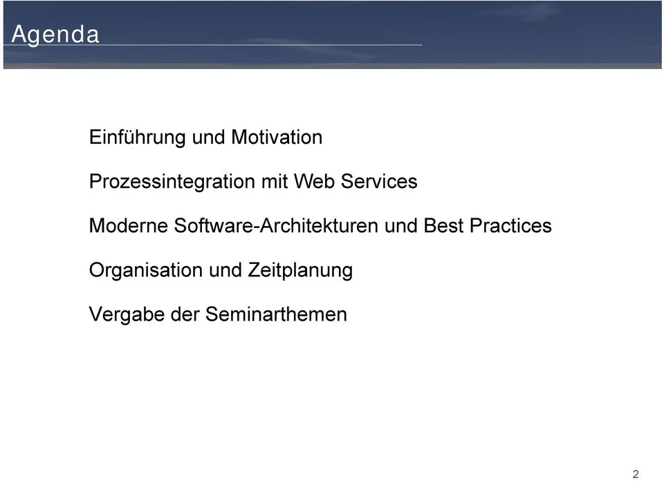 Software-Architekturen und Best Practices